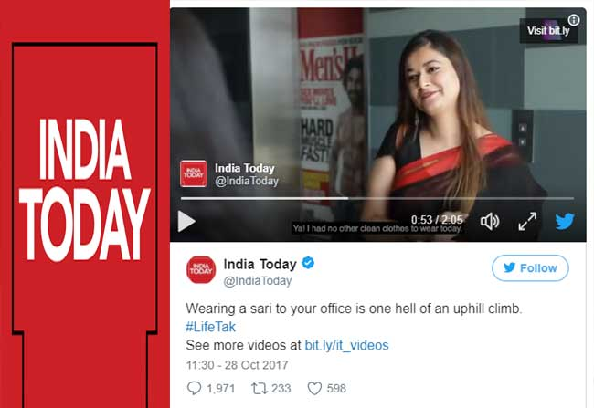 'India Today' draws flak after its video on Saree!