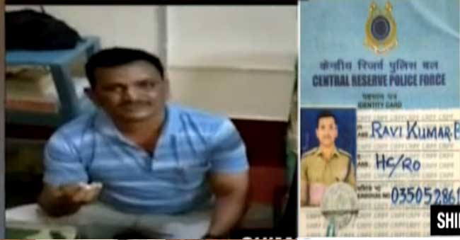 A CRPF Soldier thrashed in theatre after he molests a woman!