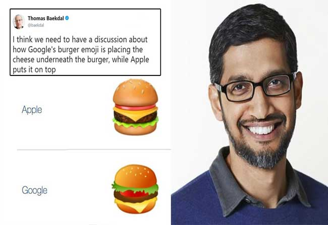 """Internet's Confused Over """"Burger Emoji"""" – Google Drops Everything to Fix!"""