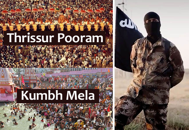 Kerala ISIS Recruiter Threatens Kumbh Mela & Thrissur Pooram!
