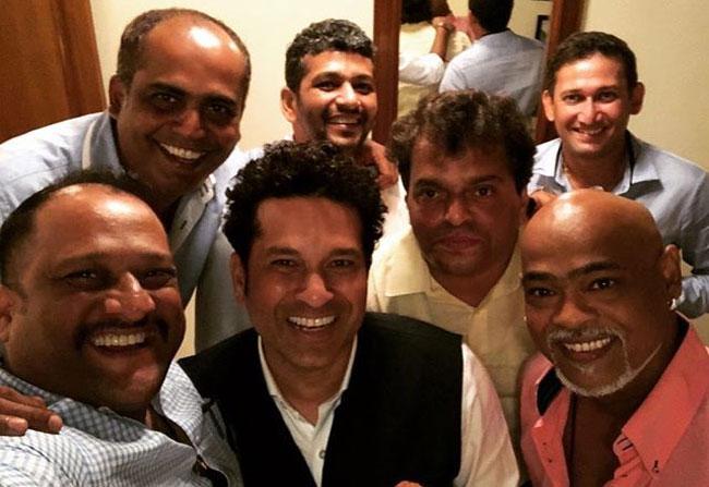 Sachin and Kambli Re-united!