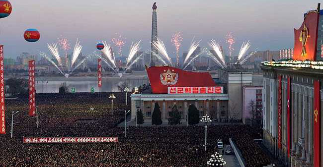 People in North Korea celebrates after the successful missile test!