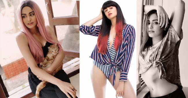 Sizzling Adah Sharma pink hair
