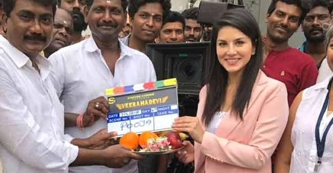 Sunny Leone starts shooting for the mega-budget periodic film