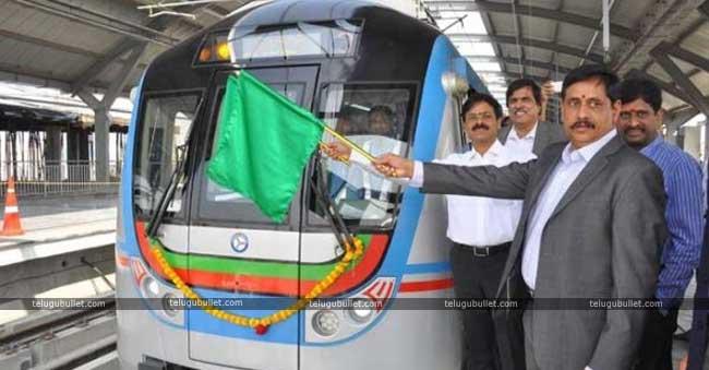 Hyderabad Metro Trian Run To Hi-Tec City Is Begin