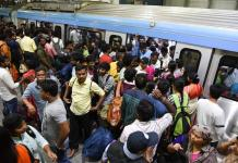 Tsrtc strike hyderabad metro rail sees 4 laks footfall, as protests continue