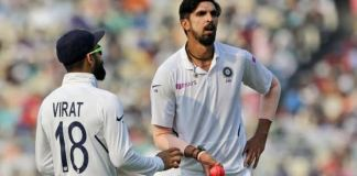 Ishant fifer, Kohli-Pujara stand give India Day 1 of the Pink Ball Test