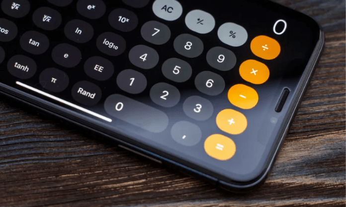 Do you know iPhone has a scientific mode in calculator app?