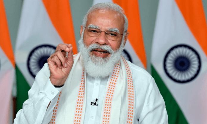 Modi slams both Left and Congress, seeks vote for BJP
