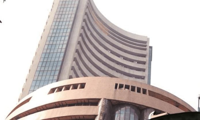 Equity indices trade in red; Sensex down over 500 points