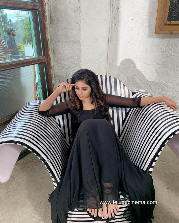 Anjali in a relaxing mood