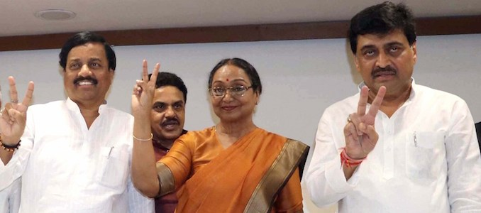 Mumbai: UPA's presidential candidate Meira Kumar during a press conference in Mumbai on June 30, 2017.