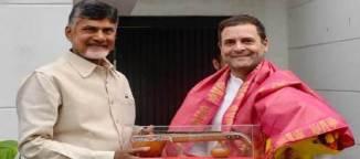 Nara Chandrababu Naidu Rahul gandhi telangana news