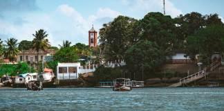 Ilha de Marajó - visão da chegada a Soure por barco