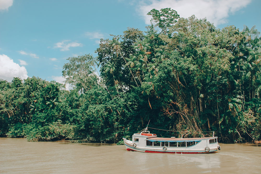 moradores da ilha do combu utiilizam barco diariamente para ir e voltar de Belém do Pará