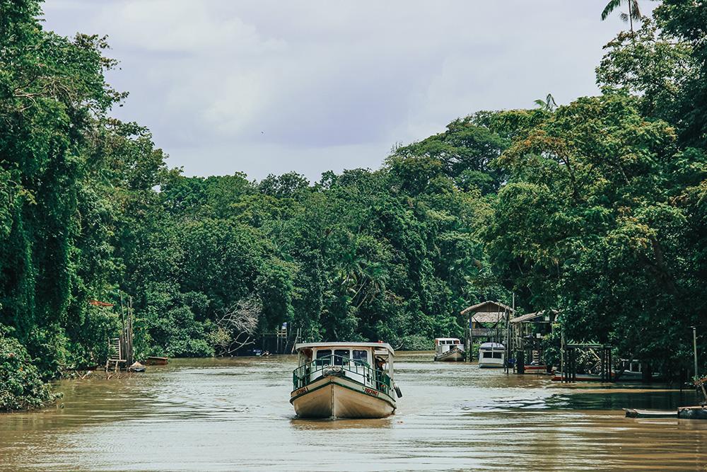 Um dos diversos braços de rio existentes na Ilha do Combu