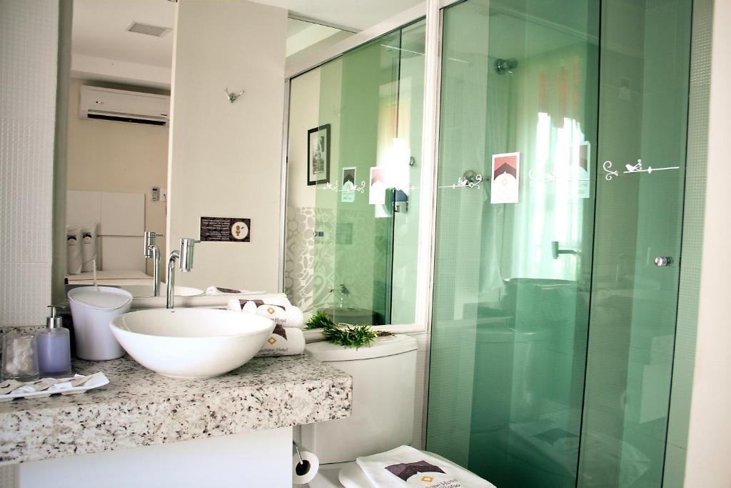 banheiro do Boutique Hotel Casa Teatro