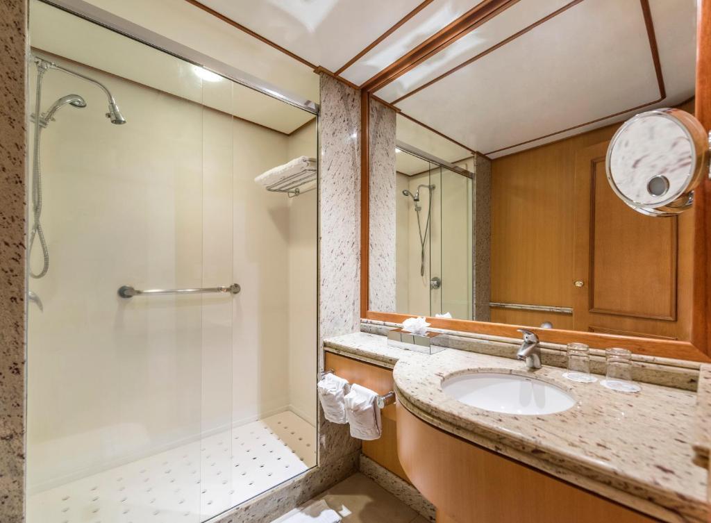 banheiro do Iberostar Heritage Grand Amazon, uma opção diferente para se hospedar em Manaus