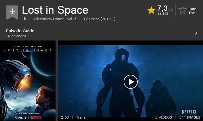 perdidos no espaço IMDb
