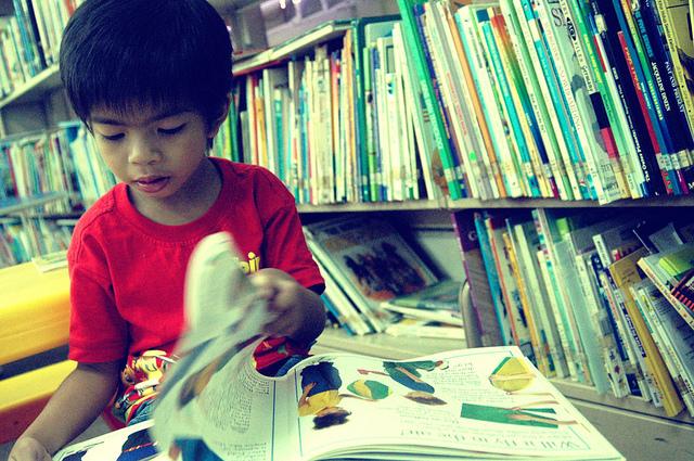 bakat anak hari kunjung perpustakaan