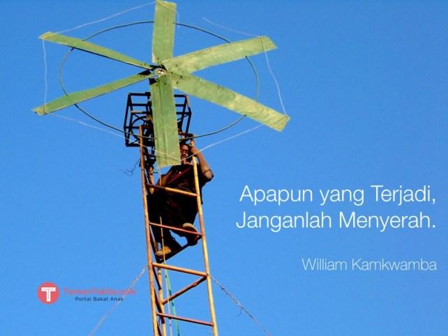 William Kamkwamba pembangkit listrik tenaga angin