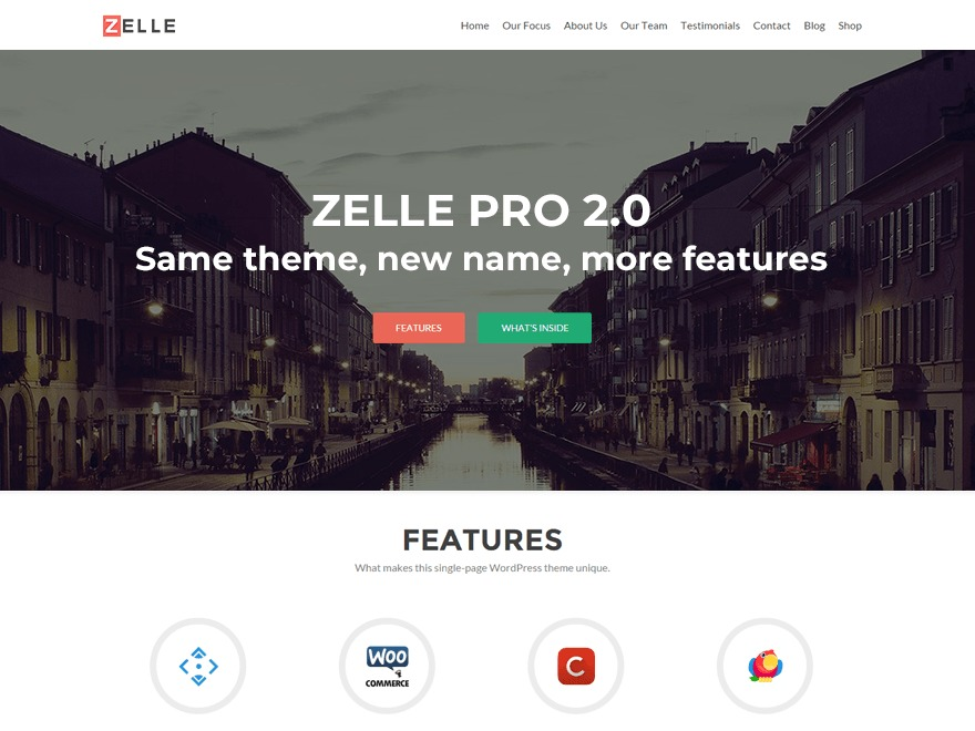 Zelle pro wordpress teması