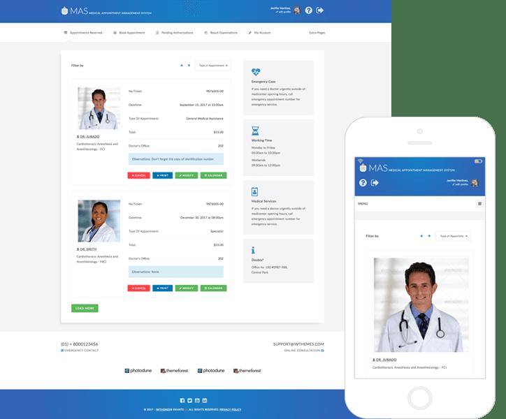 Tema html para sistema de gestion de citas medicas