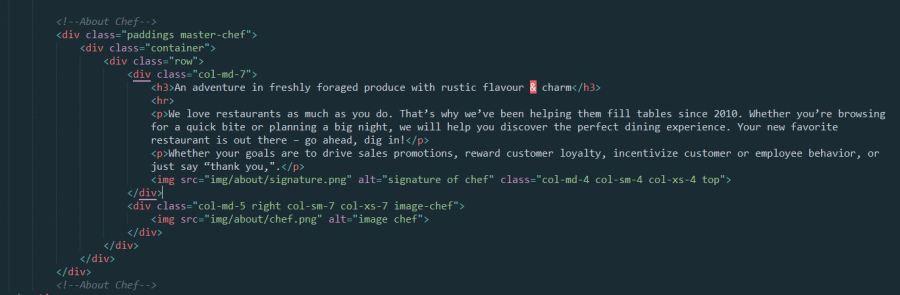 Tema html para restaurantes