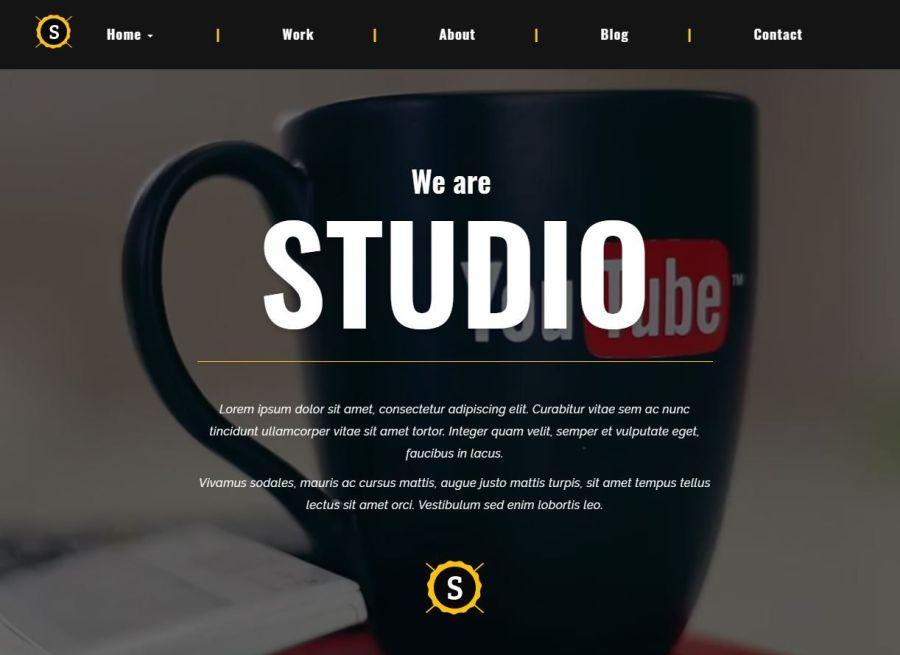 Studio - Tema Html De Software Y Portafolio