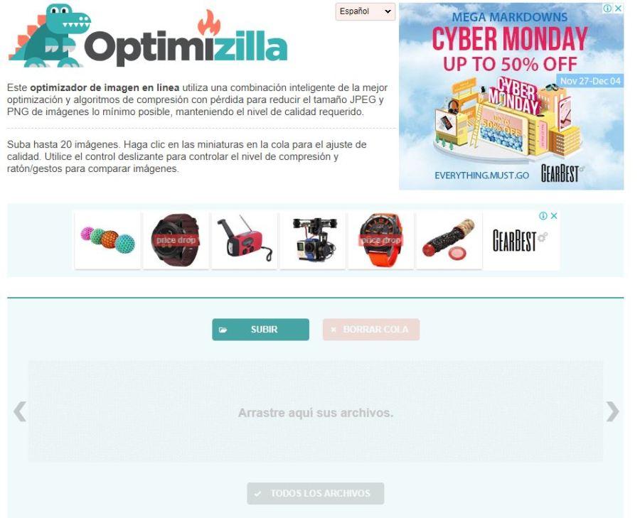 optimizar imágenes online