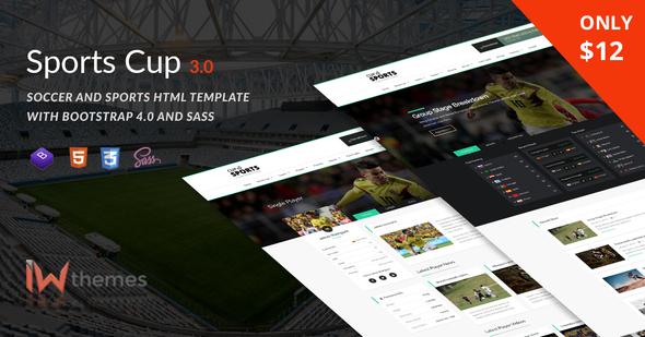 Sports cup tema html para deportes
