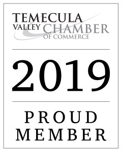 Proud member of the Temecula Valley Chamber of Commerce