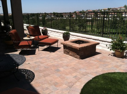 Pavers with fire pit in Temecula McCabe's Landscape Construction