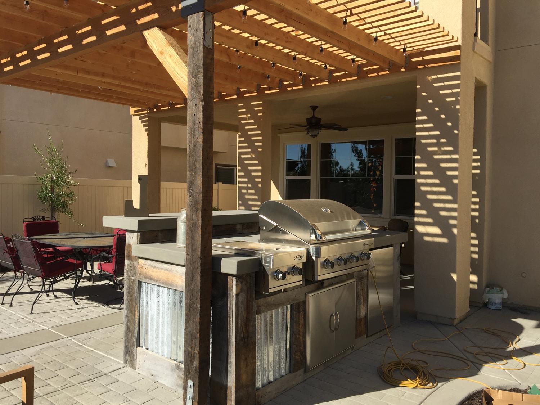 rustic bbq patio living spaces