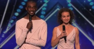Freckled Sky  Howard Stern Hits Golden Buzzer for Dance Duo   America s Got Talent 2015   YouTube