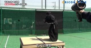 これぞ達人の技!平成の侍 町井勲が時速160kmのボールを真っ二つに!