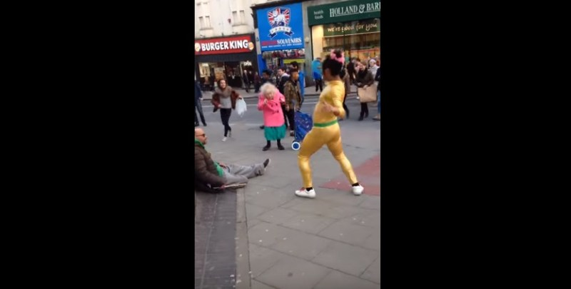 Pure joy on the streets of Brighton 💖 Beautiful old Dancing Lady   Disco Bunny   YouTube