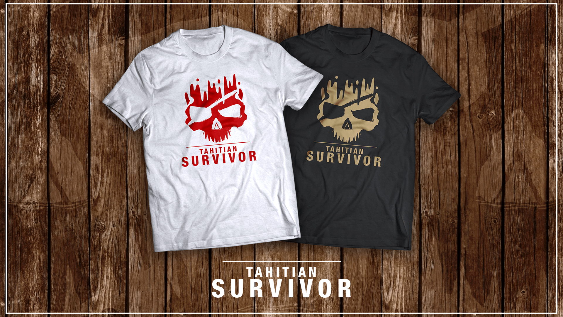 Tahitian Survivor – Tshirt Design