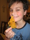 """Thing 1 loved the naturally occurring cheese """"crisps"""". Yum!"""
