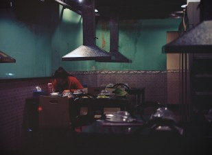 Alone in restaurant