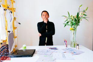 Designer Genqoi Tashi (Xinhua)