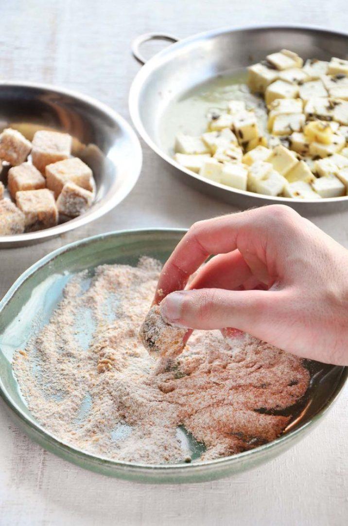 Empanando o tofu