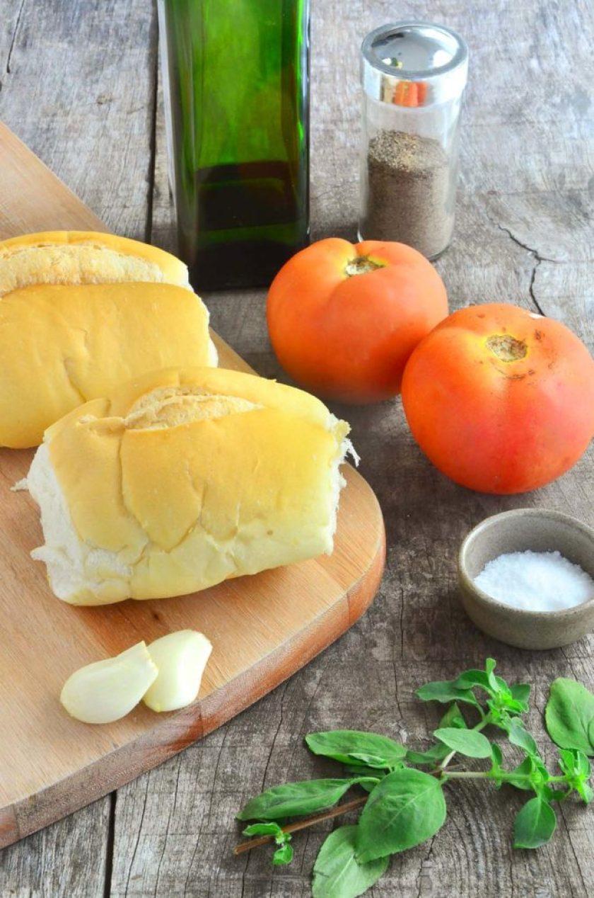 Ingredientes Bruschettas