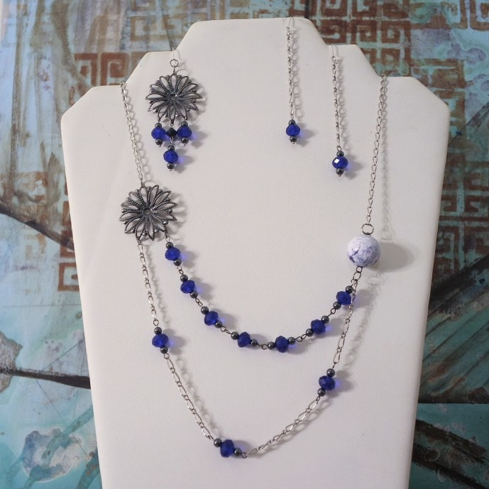 Chandelier necklace and earring set - $45 for the set