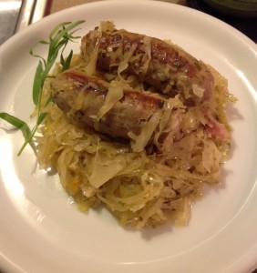 One of my many sauerkraut variations - this one made with Boulevard's Harvest Wheat Wine