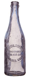 Crystal Springs - Bottle (historical)