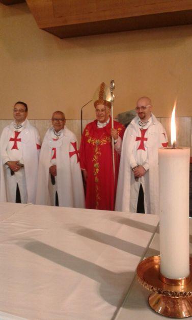 Templari Cattolici d'Italia alla Santa Messa a Santa Rita e Sant'Andrea con il vescovo diocesano.