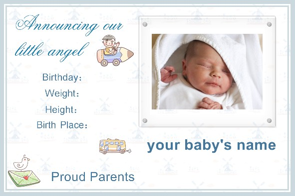 Free Birth Announcements Templates free photo templates baby – Baby Announcement Template Free