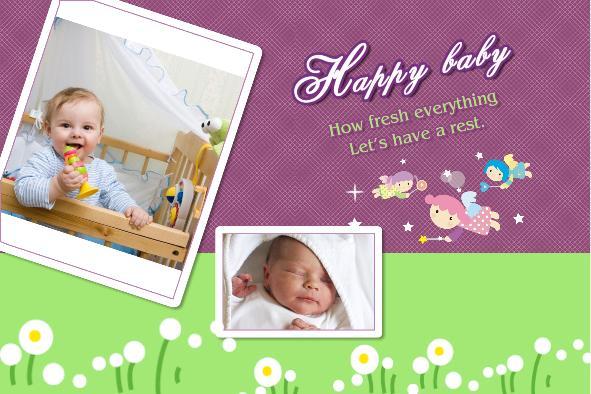 Free Photo Templates Happy Baby Album