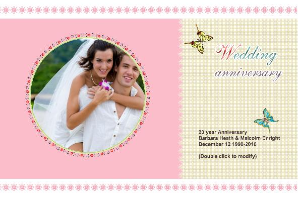 Th Wedding Anniversary Card Templates  Wedding Invitation Sample